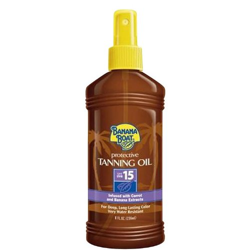 Banana Boat Protective Spray Oil, Sunscreen SPF 15 8 oz (Pack of 10)