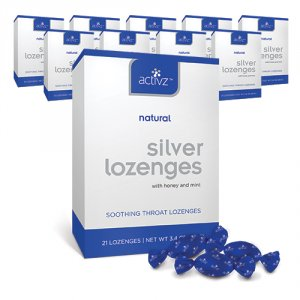 Activz Silver Throat Lozenges with honey & mint - 10 pack