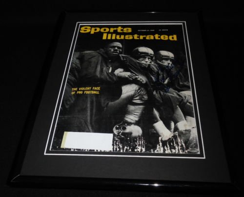 Don Chandler Signed Framed 1960 Sports Illustrated Magazine Cover Giants