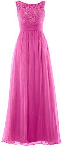 MACloth Lace Prom Gown Chiffon Evening Long Fuchsia Formal Dress Women Party Wedding r5wxBrIfq