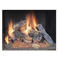 Country Split Oak Vented Dual Burner Log...