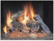 Sure Heat BRO24NG Sure Heat Burnt River Oak Vented Gas Log Set, 24-Inch, Natural Gas
