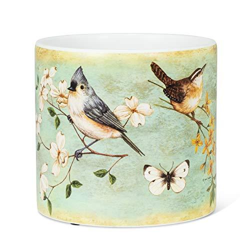 Abbott Collection 27-PARADE-095-LG Lg Bird&Flower Planter-6.5