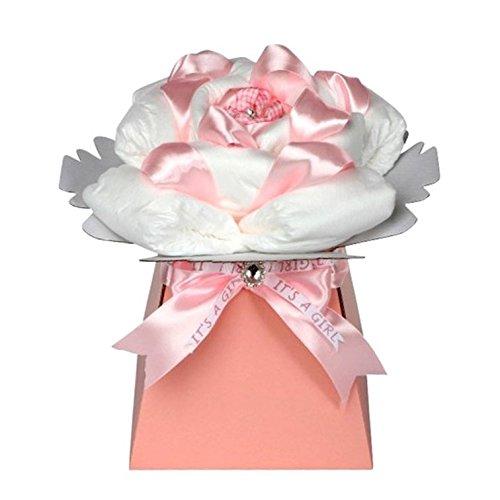 Rose b/éb/é fille Lilas /à couches g/âteau//panier de b/éb/é fille Rose Cadeau de Baby Shower//New arriv/ée Cadeau//cadeau pour b/éb/é fille//envoi rapide