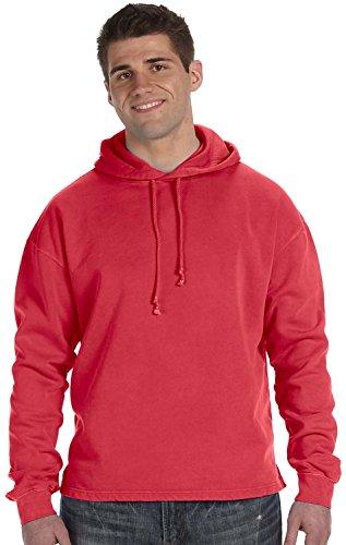 UPC 882849092343, Authentic Pigment 80/20 Fleece Boxy Pullover Hood - POPPY - S