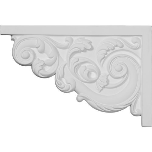 Ekena Millwork SB11X07AS-L 11 3/8-Inch W by 7 5/8-Inch H by 5/8-Inch D Large Ashford Stair Bracket, Left by Ekena Millwork