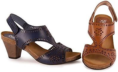 Zapato Sandalia TACÓN 100% Piel Vacuno Hecho EN ESPAÑA CHAMBY: Amazon.es: Zapatos y complementos