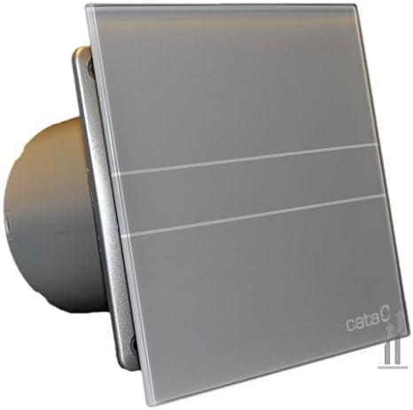 Cata | Extractor baño | Modelo e-100 Gs | Estractor de baño Serie e Glass | Ventilador Extractores de aire | Extractor baño silencioso | Extractor aire para baño | color blanco | 6 unidades