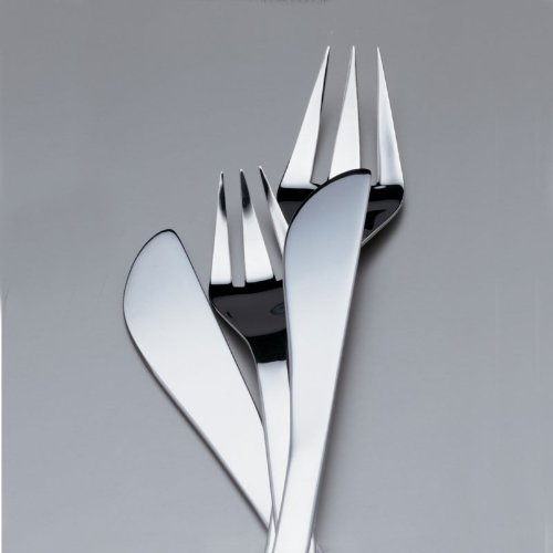 Alessi Colombina 24-Piece Cutlery Set, 18/10 Stainless Steel Mirror Polish