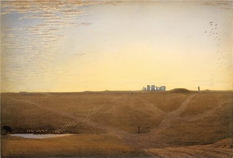 ポリエステルキャンバス、最高の価格アート装飾プリントキャンバスの油絵` Stonehenge at twilight、について1840byウィリアム・ターナーのオックスフォード`、8x 12インチ/ 20x 30cm is best forや廊下の装飾ホームアートワークとギフトの商品画像