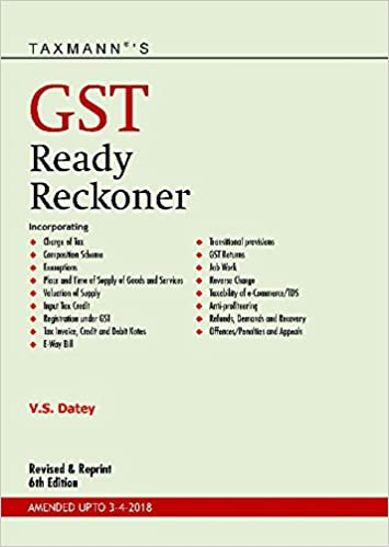 GST Ready Reckoner 6th Edition 2018 Paperback
