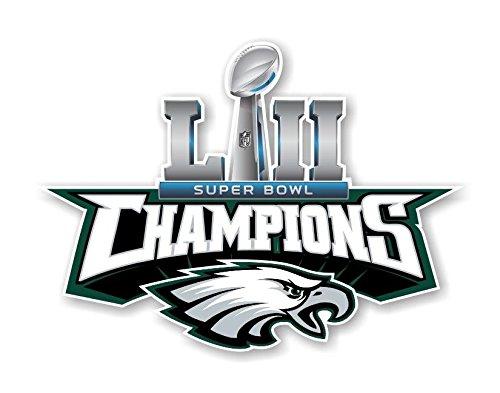 - Workmas Sticker Philadelphia Eagles Champions Super Bowl 52 Die Cut Premium Vinyl Decal, 5