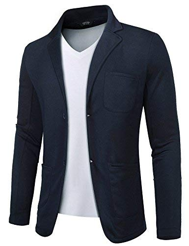 COOFANDY Mens Cotton Casual Two Button Lapel Blazer Jacket Lightweight Sport Coat ()