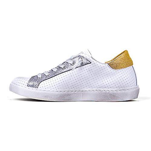 Femme 2 Blanc Baskets Bianco Bianco 36 Pour Eu Star rtwtBHqF