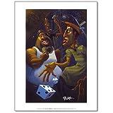 Justin Bua Green Street Art Print Poster - 10x12