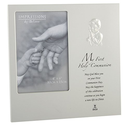 Communion Frame (Oaktree Gifts My 1st Holy Communion Boy Aluminium Photo Frame 4 x 6)