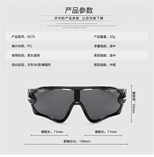 Lunettes bleues lentilles de CHshop l'été la rétro personnalité de R8RZU