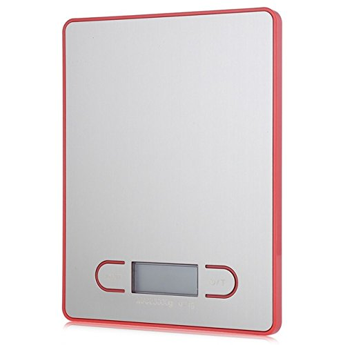 5kg 1g LCD Digital Scale Electronic Kitchen Weight Tool(WHITE) - 3
