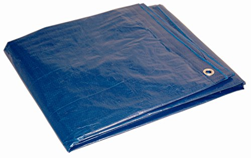 12x16 Multi-Purpose Blue Medium Duty DRY TOP Poly Tarp (12'x16')