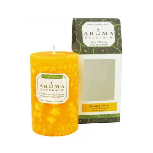Aroma Naturals Pillar Candle - Relax Tang - 2.5 inches x 4 inches