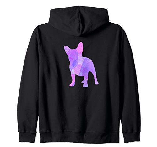 French Bulldog Dog Lover Colorful Silhouette  Zip Hoodie ()