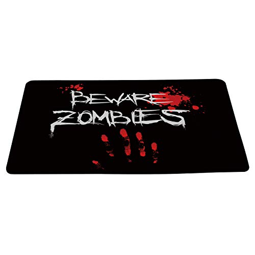 Wizardry1986 Beware Zombies Doormat Floor Mat with Non-Slip Backing Bath Mat Rug Excellent Home Decor 23.6