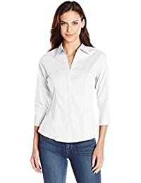 Amazon.com: White - Blouses & Button-Down Shirts / Tops & Tees ...