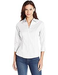 Amazon.com: White - Blouses & Button-Down Shirts / Tops & Tees ...