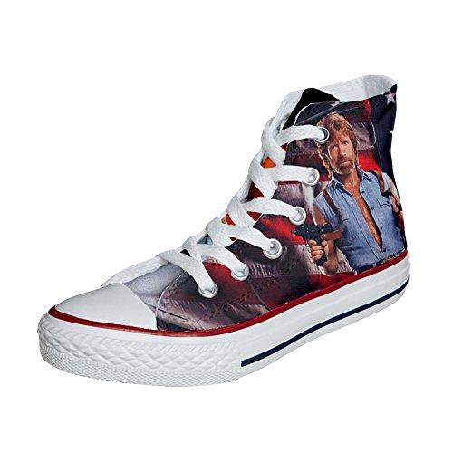 Converse PERSONALIZZATE All Star Hi Canvas, Sneaker Uomo/Donna (Prodotto Artigianale) telefilm cult texas