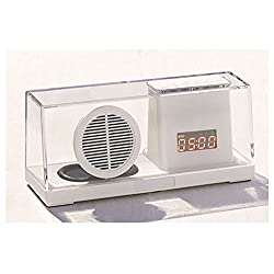 Urban Outfitters Clear Bluetooth Speaker Desk Clock