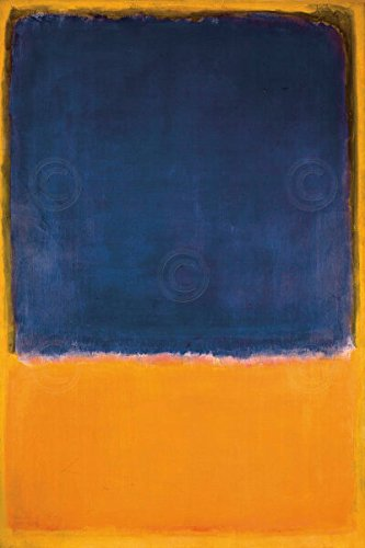 (Untitled 1950 by Mark Rothko Abstract Contemporary Print Poster )