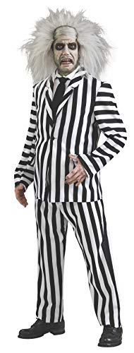 Couples Costumes Scary (Beetlejuice Deluxe Costume, Black/White,)