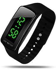 HIwatch LED Watch Fashion Sport Water-resistant Digital Watch for Boys Girls Men Women Bracelet Watch