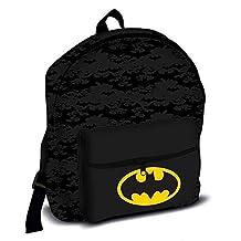 Official Licensed Children's Batman Logo Black Roxy School Backpack Rucksack Bag