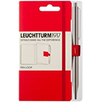 Leuchtturm1917 339055 Stiftschlaufe (15 mm elastische Schlaufe, selbstklebend, 40 x 40 mm) rot