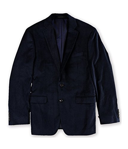 Calvin Klein Mens Slim-Fit Velvet Two Button Blazer Jacket Navy 38 by Calvin Klein