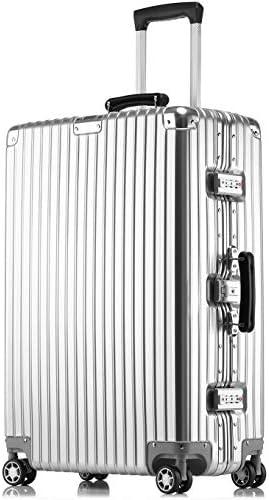 [해외]JINXIANGMEI 고급 가방 알루미늄 마그네슘 합금 프레임 캐리 가방 기내 가방 입금 여행 가방 TSA 자물쇠 캐스터 해외 여행 SZ1608 / JINXIANGMEI High End Suitcase Aluminum Magnesium Alloy Frame Carry Bag Carry-on Suitcase Deposit suitcase T...