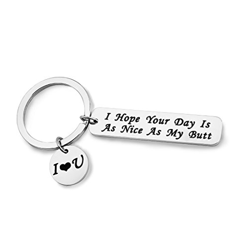 Zuo Bao Boyfriend Girlfriend Gift I Hope Your Day Is As Nice As My/Your Butt Keychain Funny Keychain Gift (As Nice As My Butt) (Hope Key)