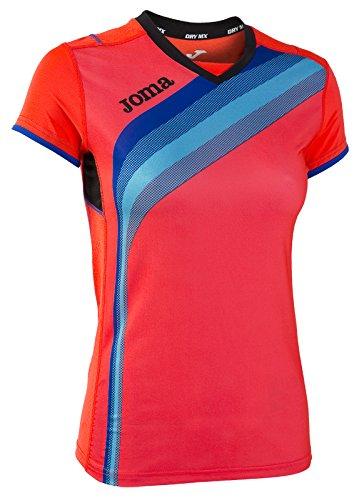 Joma - Camiseta Elite v Coral Fluor m/c para Mujer