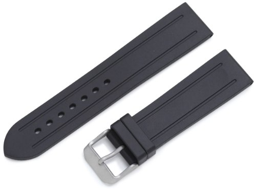 Momentum ZC-22GRV BLACK 22 Format 4 Groove Rubber Watch Strap