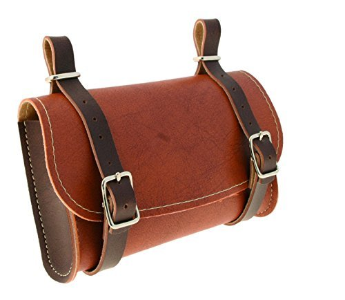 aucun VINTAGE BIKE BROWN SADDLE BAG SEAT PACK TAIL STRAP CITY ROAD CYCLE SYNT. LEATHER SEATPOST BASKET BIYCLE OLD SCHOOL L'EROICA REAR MAN WOMAN LADY LADIES by aucun