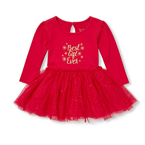 The Children's Place Baby Girls Special Occasion Dress, Ruby, 6-9MONTHS