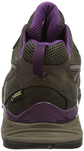 The North Face  Hedgehog Hike Gtx, Chaussures de randonnée basses pour femme Marron Brown (Weimaraner Brown/Black Currant Purple) ,42