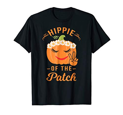 Hippie of The Patch Pumpkin Halloween T Shirt -