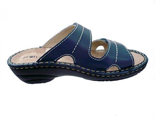 Rohde Damen Cremona Pantoletten Blau (Blau)