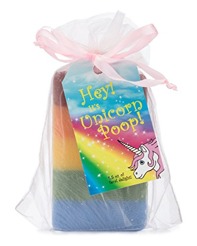 Unicorn Poop Soap: a magical, sparkly, unique unicorn gift for the unicorn-lover in your life (one bar of handmade soap!)