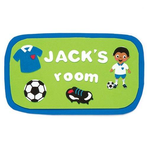 Baker Ross Autocollants en mousse Football que les enfants pourront utiliser pour d/écorer les cartes de loisirs cr/éatifs et les projets de scrapbooking Lot de 120