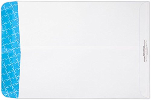 10 x 13 Antimicrobial Open End Envelopes - 24lb. White Wove w/ Antimicrobial Sec. Tint (50 Qty.) | Perfect for Tax Season, Important Documents, Letters, Invoices or Statements | 1013-SAT-50 (Tint Sat)