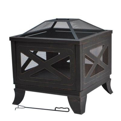 Hampton Bay 26 in. Steel Deep Bowl Fire Pit in Antique Bronze with X- - Amazon.com : Hampton Bay 26 In. Steel Deep Bowl Fire Pit In Antique