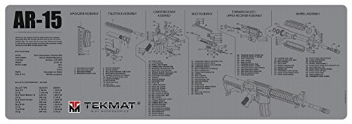 TekMat Gun Cleaning Mat for use with AR-15 - Grey (Best Ar 15 Upper Assembly For The Money)